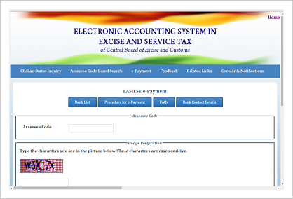 service tax e payment easy steps