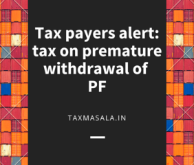 income tax on pf withdrawal -b