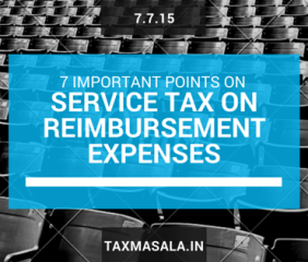 service tax on reimbursement of expenses - out of pocket expenses