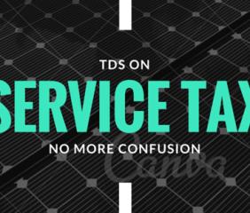 tds on service tax