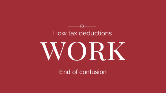 How tax deductions work : End of confusion